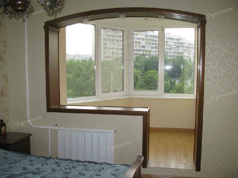 Арки иэ комнаты на балкон фото.